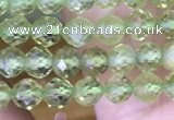 CTG1487 15.5 inches 3mm faceted round peridot gemstone beads