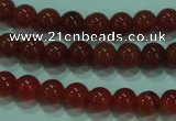 CTG15 15.5 inch 4mm round B grade tiny red agate beads wholesale