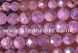 CTG1507 15.5 inches 3mm faceted round AB-color labradorite beads