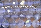 CTG1508 15.5 inches 3mm faceted round labradorite beads wholesale