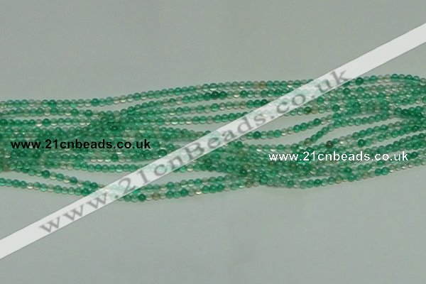 CTG152 15.5 inches 3mm round tiny green agate beads wholesale