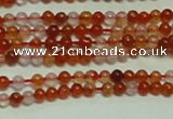 CTG153 15.5 inches 3mm round grade A tiny red agate beads wholesale