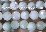 CTG1554 15.5 inches 4mm faceted round jade beads wholesale