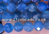 CTG1615 15.5 inches 4mm faceted round tiny apatite beads