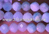 CTG1626 15.5 inches 3.5mm faceted round tiny amazonite beads