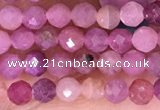 CTG1637 15.5 inches 3mm faceted round tiny ruby beads