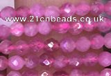 CTG1639 15.5 inches 2.5mm faceted round tiny pink tourmaline beads