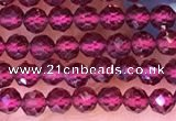 CTG1654 15.5 inches 2.5mm faceted round tiny red garnet beads