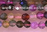 CTG1659 15.5 inches 3.5mm faceted round tiny tourmaline beads