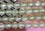CTG1671 15.5 inches 3mm faceted round tiny peridot beads