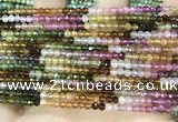 CTG1675 15.5 inches 3mm faceted round tourmaline gemstone beads