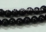CTG18 15.5 inches 3mm round A grade tiny black agate beads