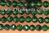 CTG2134 15 inches 2mm,3mm faceted round green goldstone beads