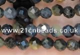 CTG2211 15 inches 2mm,3mm faceted round blue tiger eye beads