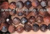 CTG2212 15 inches 2mm,3mm faceted round red tiger eye beads