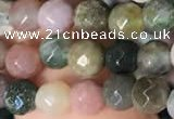 CTG2220 15 inches 2mm,3mm & 4mm faceted round Indian agate beads