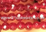CTG2226 15 inches 2mm,3mm faceted round candy jade beads