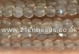 CTG2255 15 inches 2mm faceted round grey agate beads