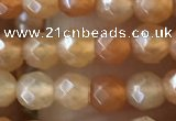 CTG2519 15.5 inches 4mm faceted round red aventurine beads