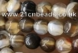 CTG2538 15.5 inches 4mm faceted round agate beads wholesale