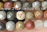 CTG3551 15.5 inches 4mm faceted round imperial jasper beads