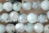 CTG3557 15.5 inches 4mm faceted round sesame jasper beads