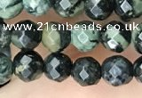 CTG3561 15.5 inches 4mm faceted round kambaba jasper beads