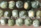 CTG3578 15.5 inches 4mm faceted round rhyolite beads wholesale