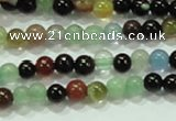 CTG38 15.5 inches 2mm round tiny multi-color agate beads wholesale