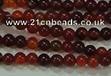 CTG39 15.5 inches 2mm round grade B tiny red agate beads wholesale