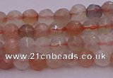 CTG508 15.5 inches 4mm faceted round tiny rainbow moonstone beads