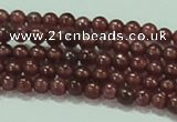 CTG53 15.5 inches 2mm round grade AA tiny garnet beads wholesale