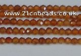CTG615 15.5 inches 2mm faceted round orange garnet beads