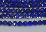 CTG650 15.5 inches 3mm faceted round lapis lazuli gemstone beads