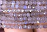 CTG700 15.5 inches 2mm faceted round tiny labradorite beads