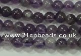 CTG72 15.5 inches 3mm round grade AB tiny amethyst beads wholesale