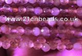 CTG721 15.5 inches 2mm faceted round tiny golden sunstone beads