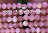 CTG732 15.5 inches 2mm faceted round tiny pink opal beads