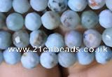 CTG771 15.5 inches 5mm faceted round tiny larimar gemstone beads