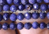 CTG789 15.5 inches 3mm faceted round tiny sapphire gemstone beads
