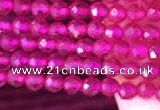 CTG808 15.5 inches 3mm faceted round tiny red corundum beads