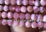 CTG811 15.5 inches 3mm faceted round tiny rhodochrosite beads