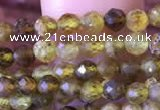 CTG816 15.5 inches 3mm faceted round tiny green garnet beads