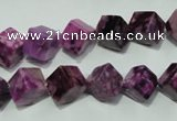CTJ528 15.5 inches 8*8mm cube dyed purple jasper beads wholesale
