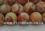 CTJ703 15.5 inches 10mm round red net jasper beads wholesale