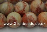 CTJ705 15.5 inches 14mm round red net jasper beads wholesale