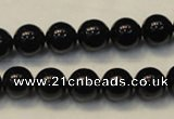 CTO103 15.5 inches 10mm round natural black tourmaline beads