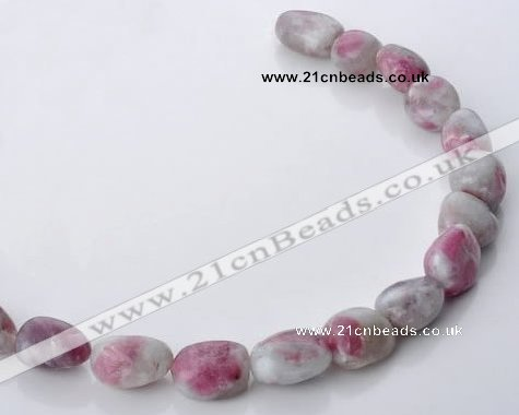 CTO11 15.5 inches 15*18mm freeform natural tourmaline beads