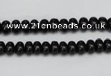CTO119 15.5 inches 7*11mm rondelle black tourmaline beads