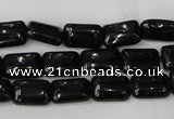 CTO126 15.5 inches 12*16mm rectangle black tourmaline beads
